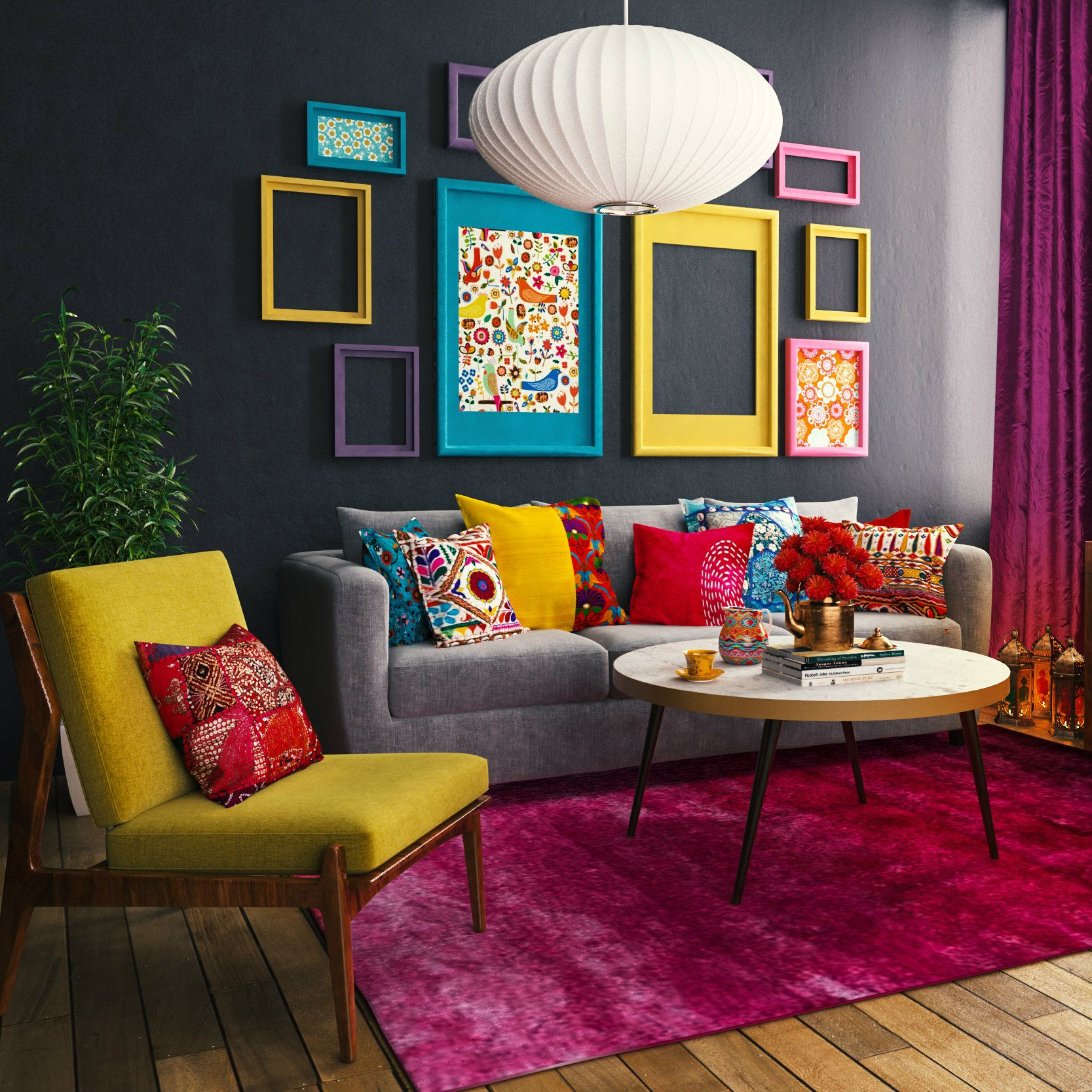Beautiful and Colourfull Livingroom 38