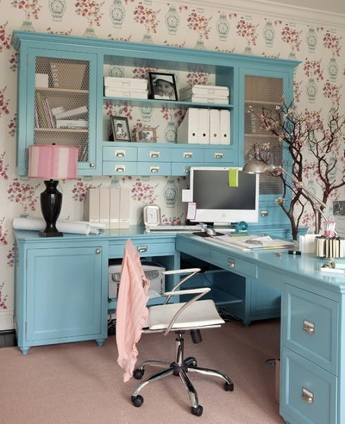 Adorable Diy Home Office Decor 55 Elegant and Exquisite Feminine Home Fices Digsdigs
