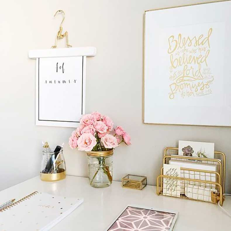 Adorable Diy Home Office Decor 6 Ideas Para Decorar Tu Cubculo De Icina