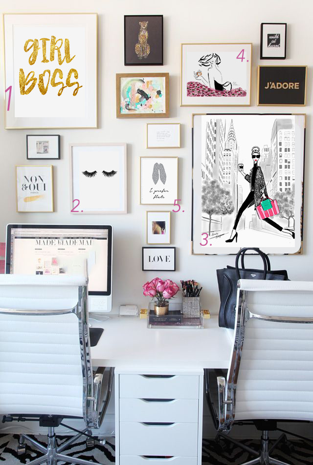 Adorable Diy Home Office Decor Best Home Fice Ideas for Bloggers and Girl Bosses Glam