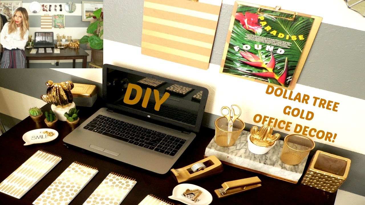 Adorable Diy Home Office Decor Diy Dollar Tree Gold Office Decor