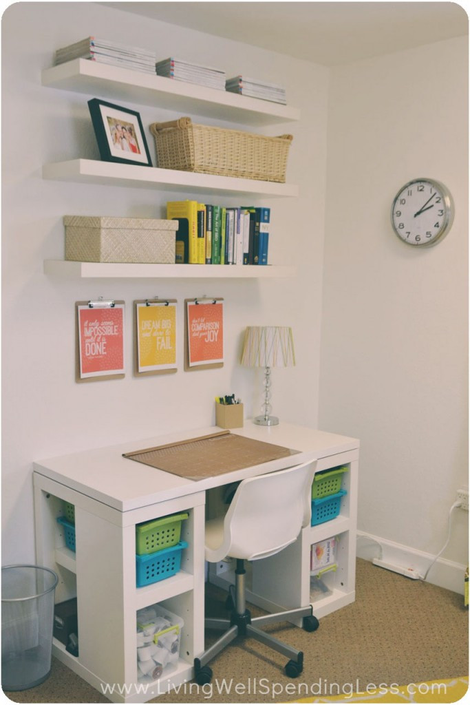 Adorable Diy Home Office Decor Diy Fice On A Bud Living Well Spending Less
