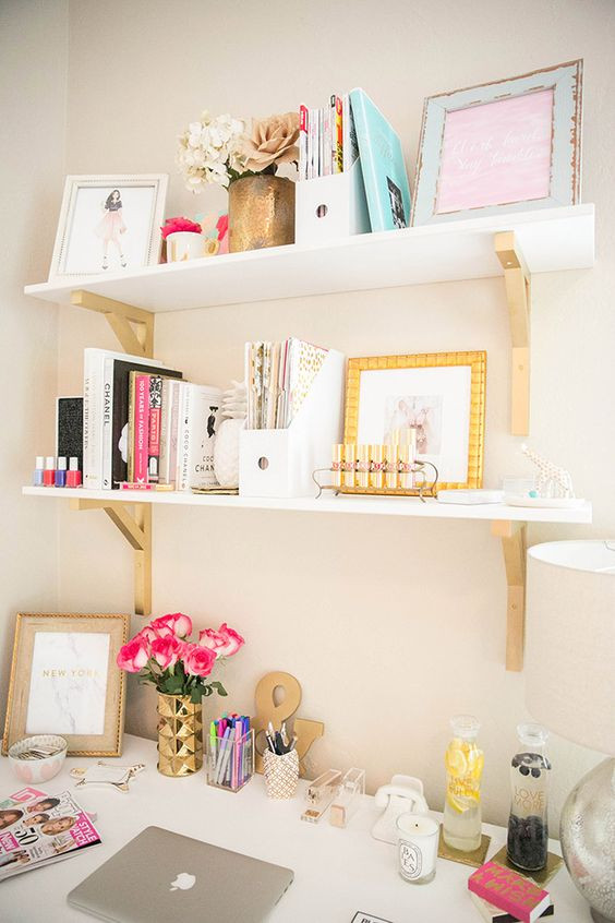 Adorable Diy Home Office Decor Inspiring Feminine Home Fice Decor Ideas for Your Dream Job