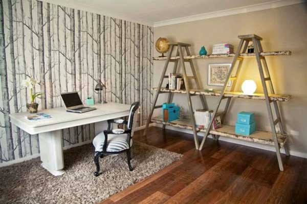 Adorable Diy Home Office Decor top 38 Creative Ways to Repurpose and Reuse Vintage Ladders