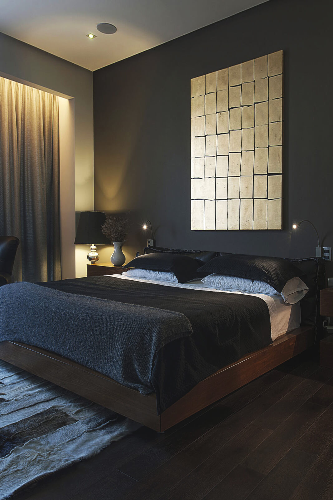 Alluring Bedroom Designs Dark Wall 10 Chambres Inspirantes Aux tonalités Masculines Frenchy