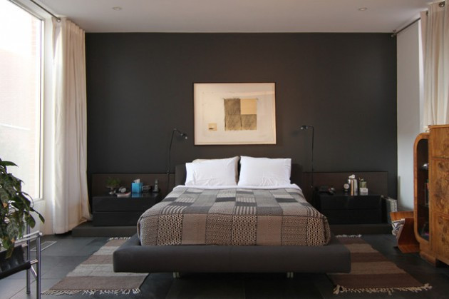 Alluring Bedroom Designs Dark Wall 17 Dramatic Bedroom Designs with Dark Walls