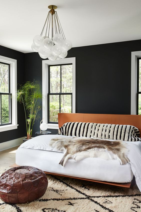 Alluring Bedroom Designs Dark Wall 27 Stylish Bedrooms with Black Walls Digsdigs