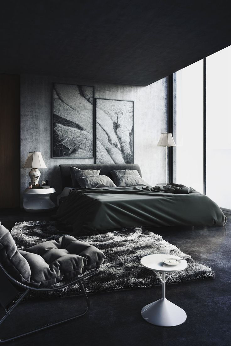 Alluring Bedroom Designs Dark Wall Back to Black Decorating with Dark Color Schemes