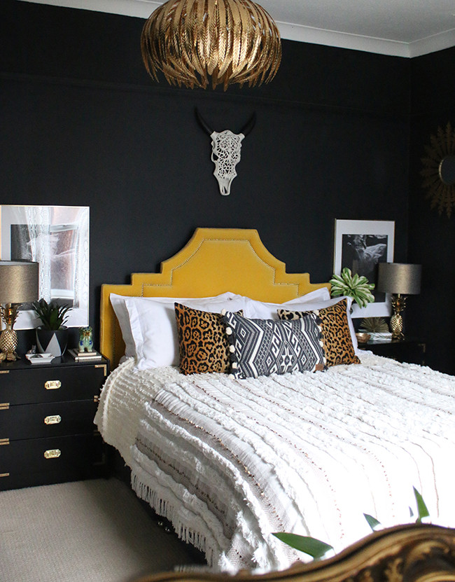 Alluring Bedroom Designs Dark Wall How to Mix High End and Low End In Your Home Swoon Worthy