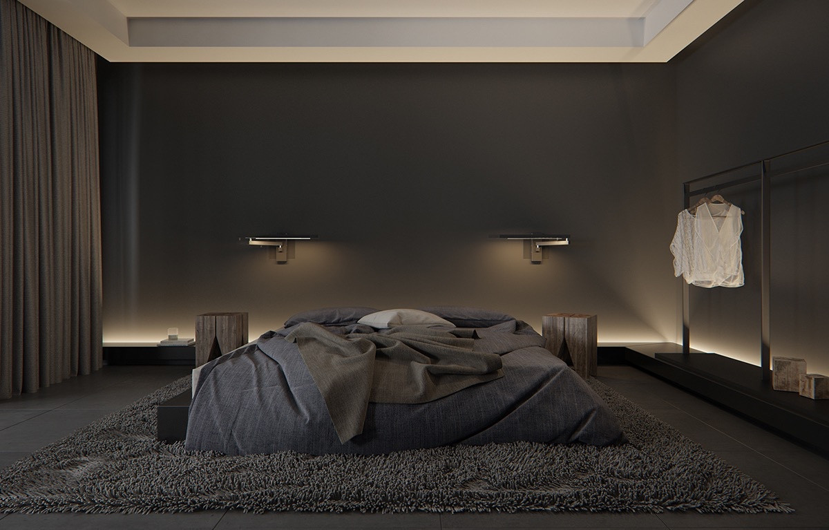 Alluring Bedroom Designs Dark Wall Luxury Styles 6 Dark and Daring Interiors