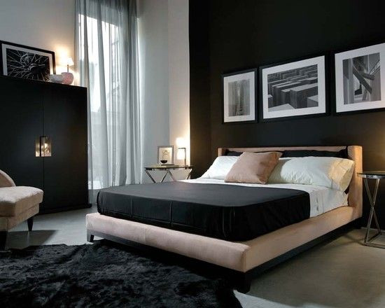 Alluring Bedroom Designs Dark Wall Masculine Modern Bedroom Dark Feature Wall