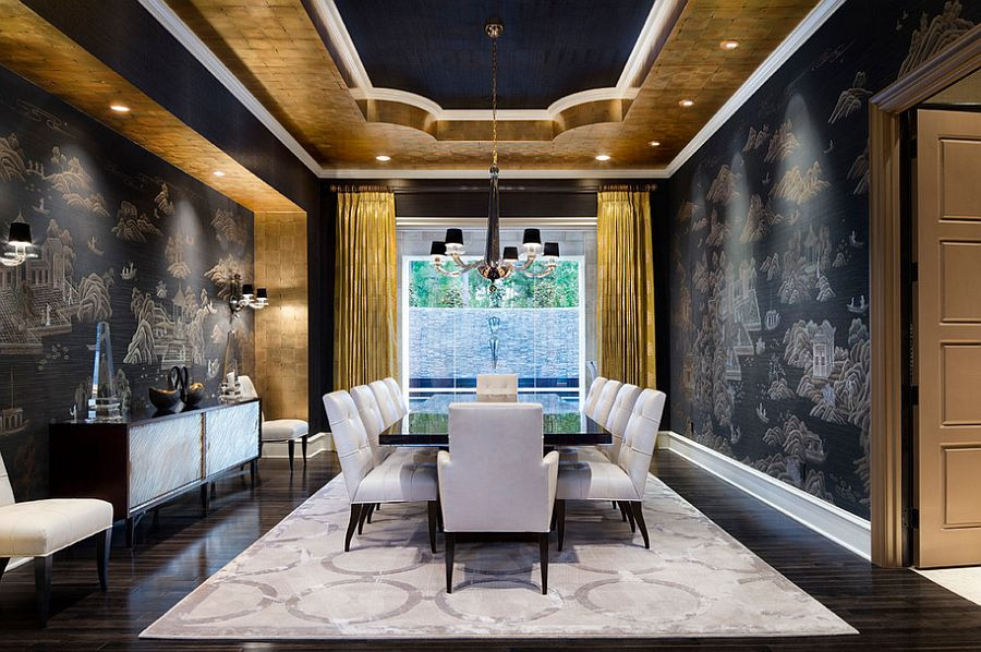 Black and Gold Dining Room Ideas 15 Refined Decorating Ideas In Glittering Black and Gold