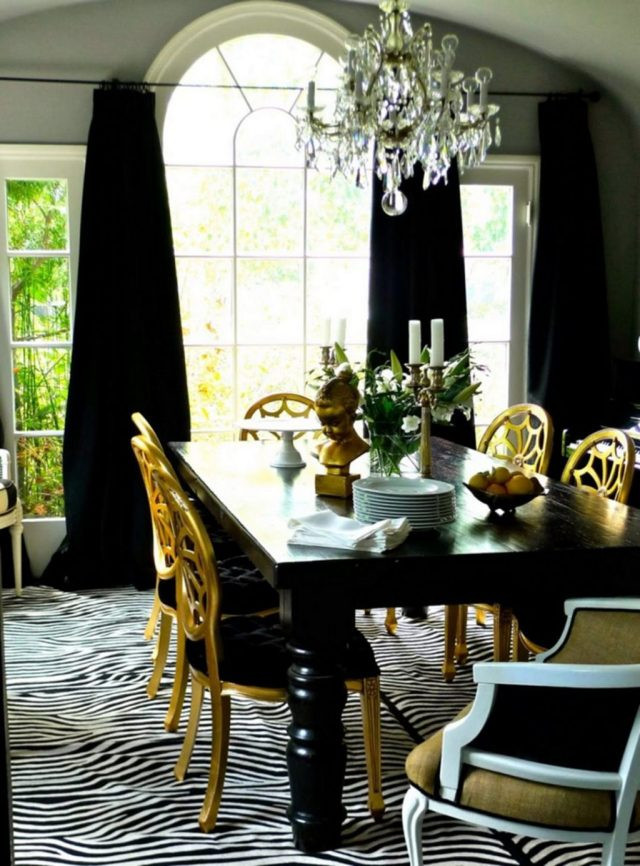 Black and Gold Dining Room Ideas 30 Luxurious Black and Gold Dining Room Ideas for