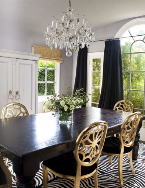 Black and Gold Dining Room Ideas Am Dolce Vita Rustic Glam with Harvest Table
