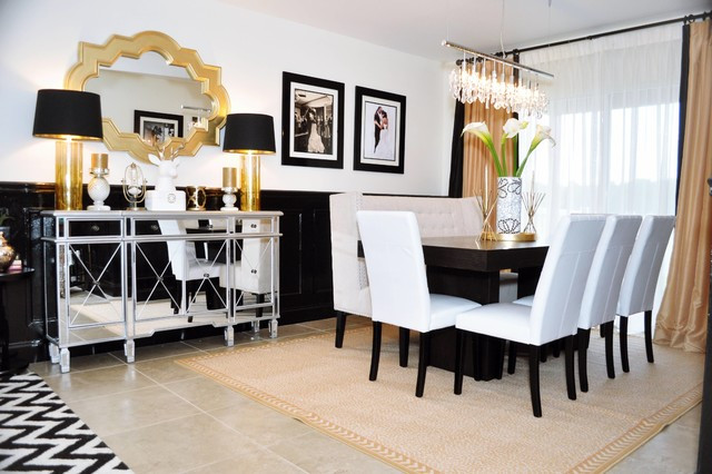 Black and Gold Dining Room Ideas Black and Gold Glamour