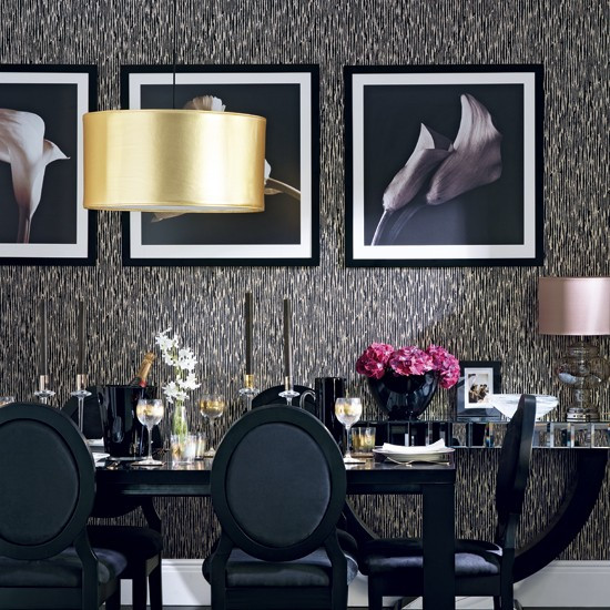 Black and Gold Dining Room Ideas Glamorous Black and Gold Dining Room