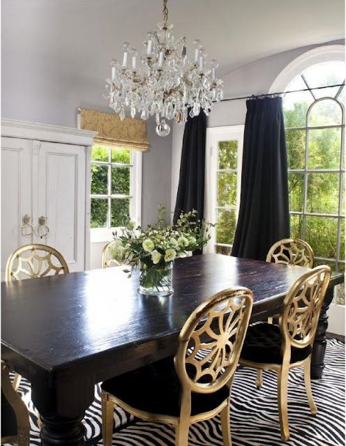 Black and Gold Dining Room Ideas Gold Dining Chairs with A Black Dining Room Table and A