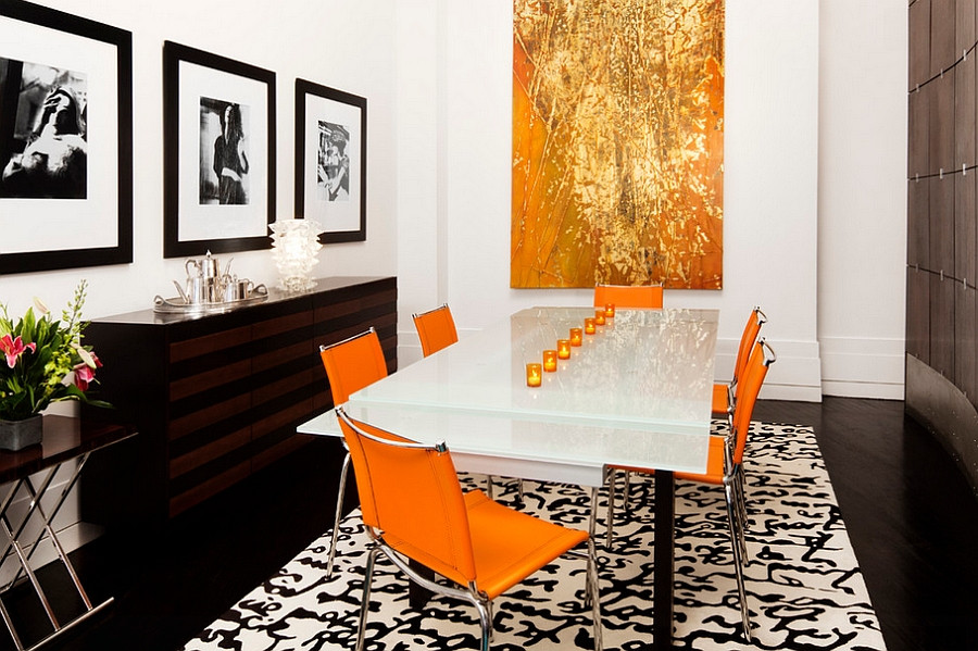 Black and Gold Dining Room Ideas orange and Black Interiors Living Rooms Bedrooms and