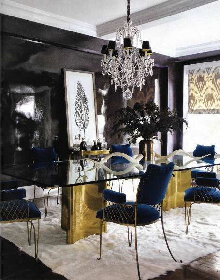 Black and Gold Dining Room Ideas Sag Awards 2014 Dress to Room Pairings the southern C