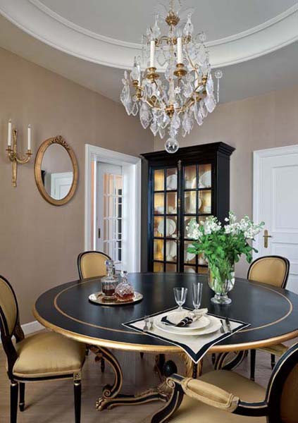 Black and Gold Dining Room Ideas Traditional Home Decor Style for Apartment