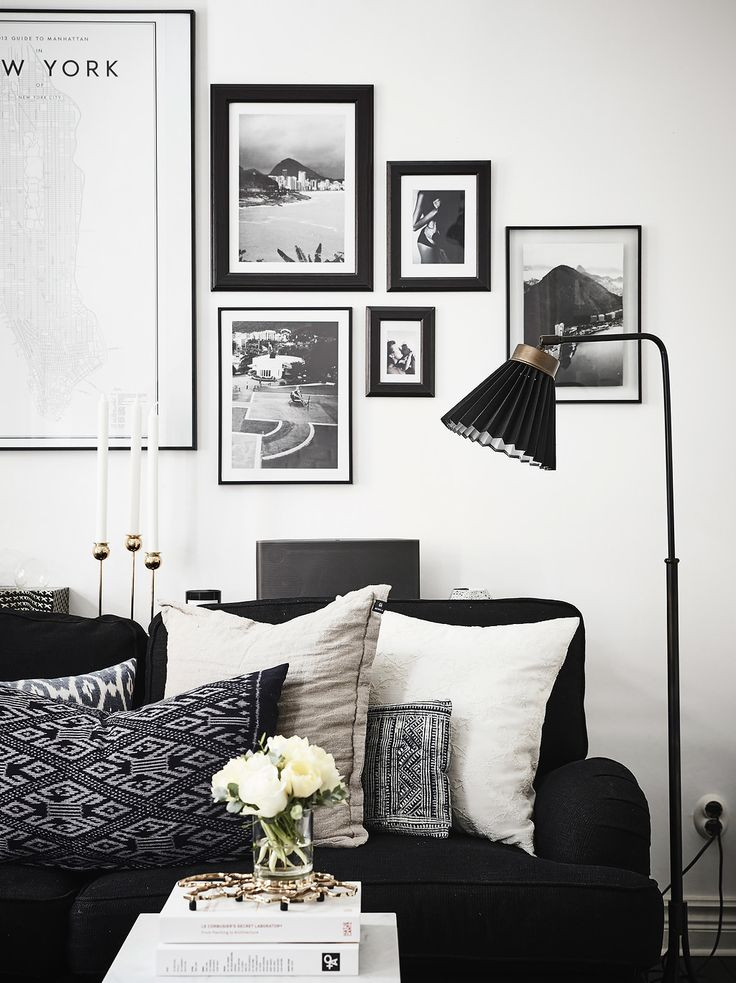 1000 ideas about Black Living Rooms on Pinterest