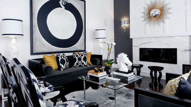 Black Living Room Designs 20 attractive Black sofa Living Room