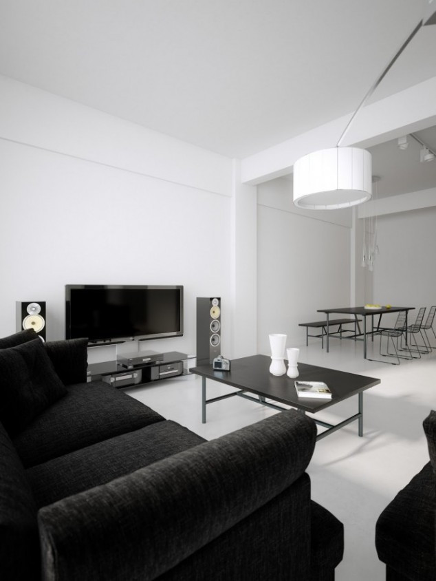 Black Living Room Designs 20 Inspire White and Black Living Room Designs