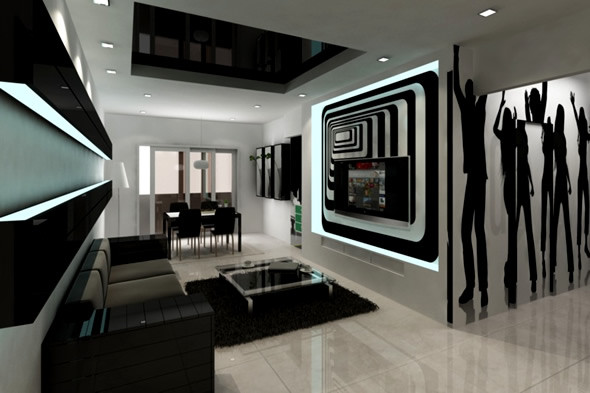 Black Living Room Designs 20 Wonderful Black and White Contemporary Living Room Designs