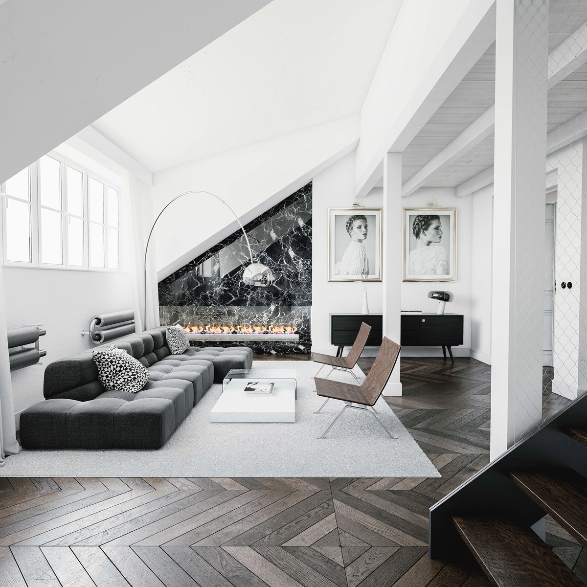 Black Living Room Designs 30 Black & White Living Rooms that Work their Monochrome Magic