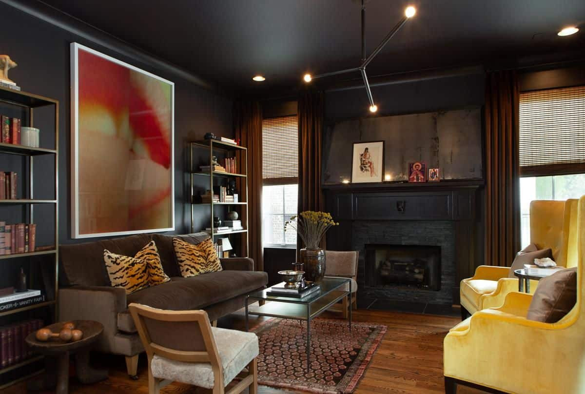 Black Living Room Designs 30 Black Living Room Ideas forced Me to Rethink This Design