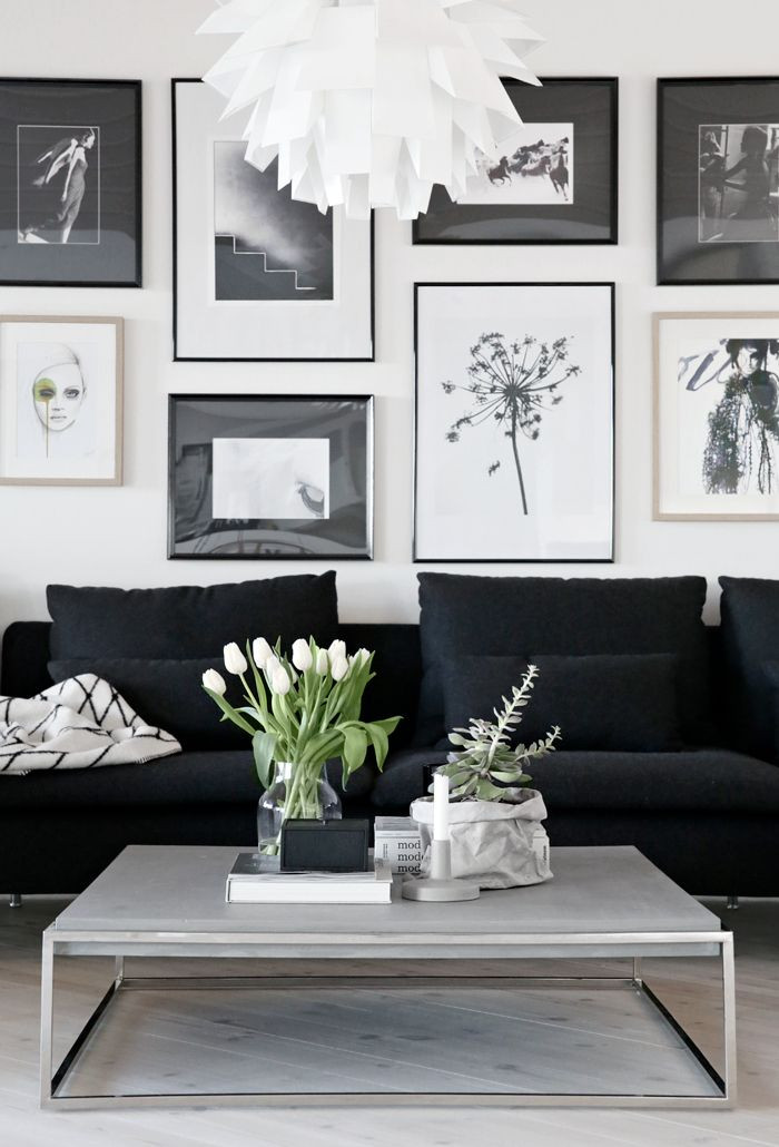 Black Living Room Designs Best 25 Black Couch Decor Ideas On Pinterest