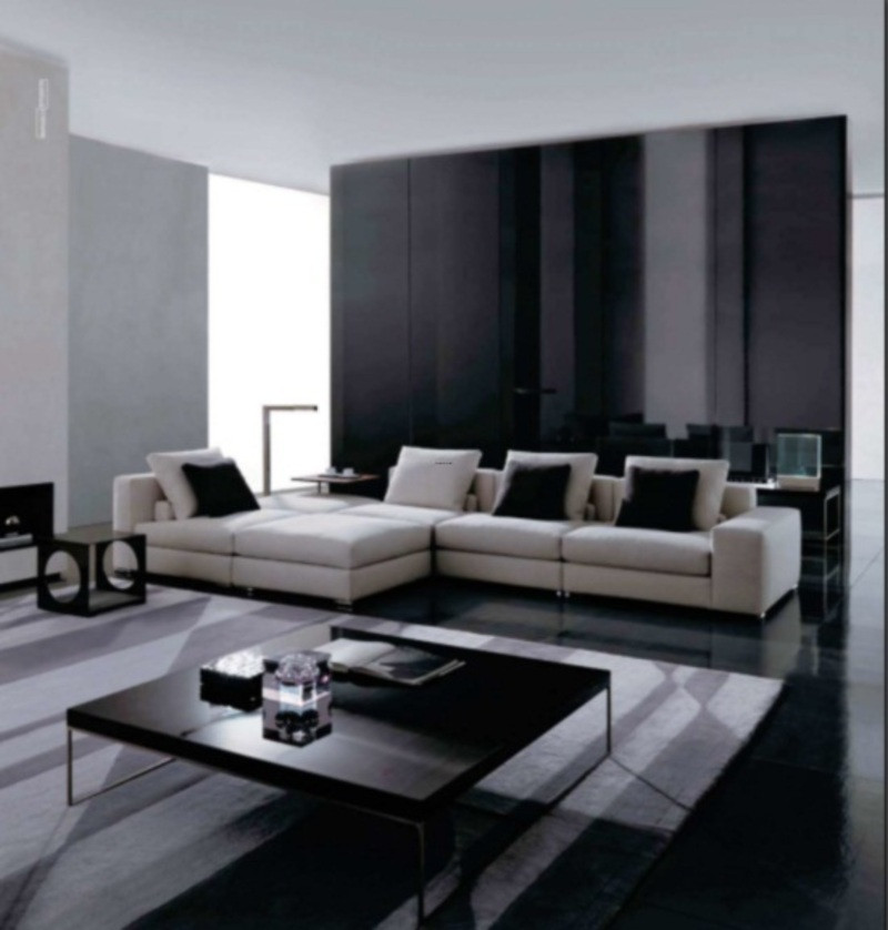 Black Living Room Designs Black and White Living Room Design theme In Modern