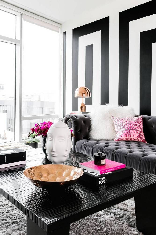 Black Living Room Designs Black and White Modern Home Decor Ideas Living