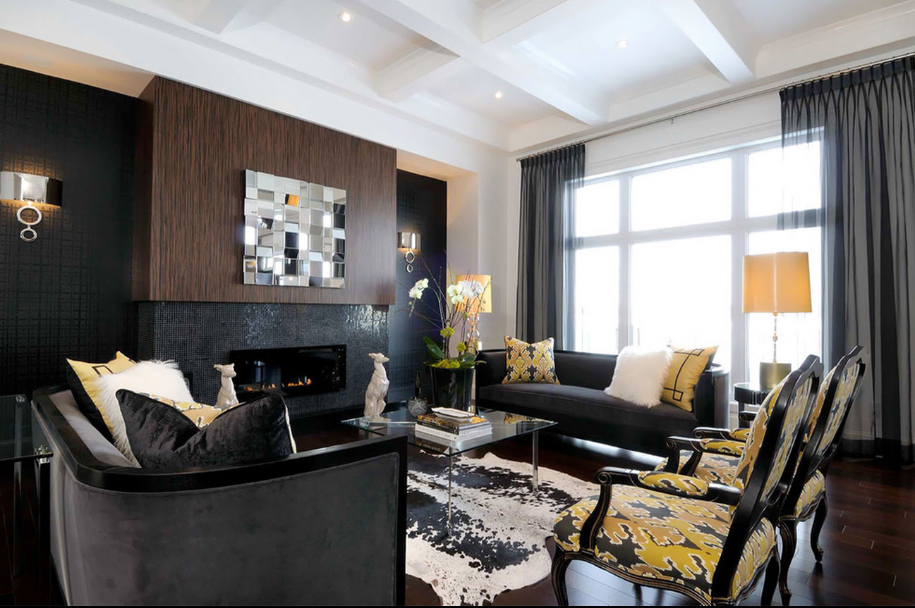 Black Living Room Designs Black Furniture Interior Design Ideas Small
