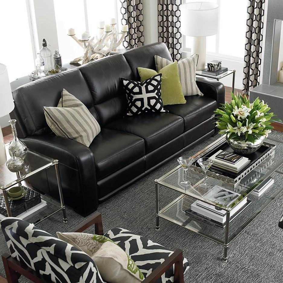 Black Living Room Designs Black Leather sofas On Pinterest