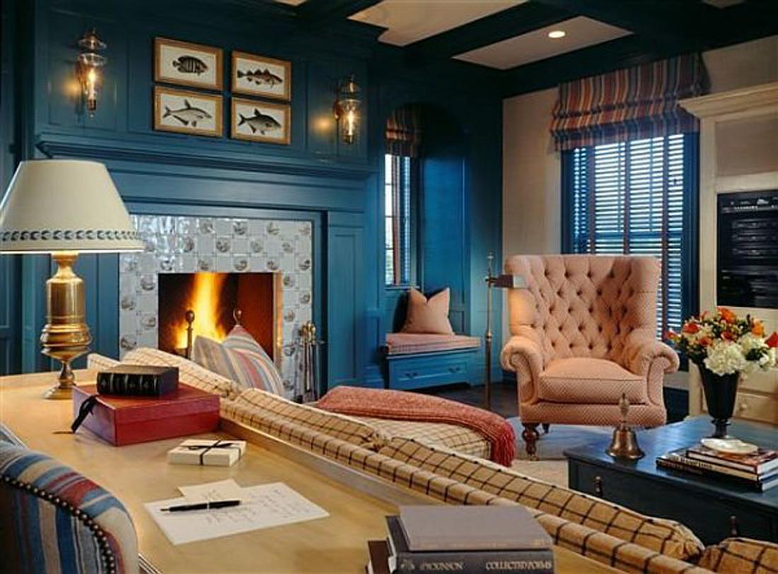 Blue Living Room Ideas 15 Beautiful Dark Blue Wall Design Ideas