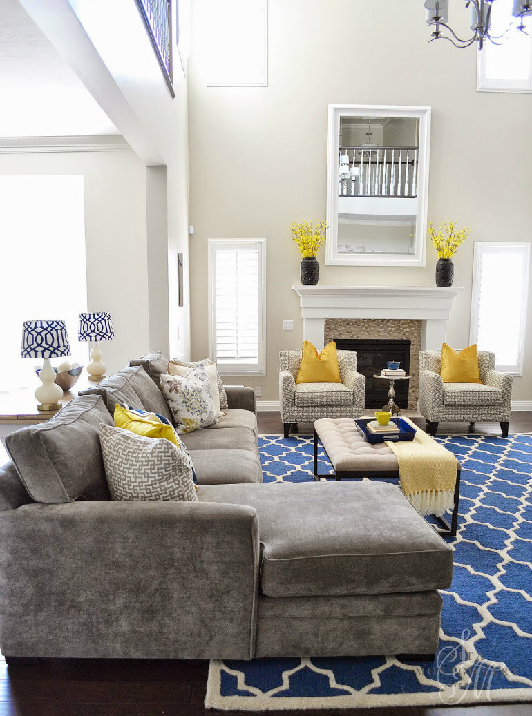 Blue Living Room Ideas Living Room Ideas Mix Blue and Yellow