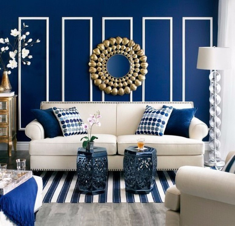 Blue Living Room Ideas Modern Living Room with Navy Blue Walls