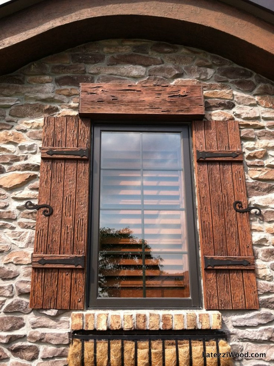 Carved Wood Window Ideas Installation Decorative Rustic Hinges for Shutters — the