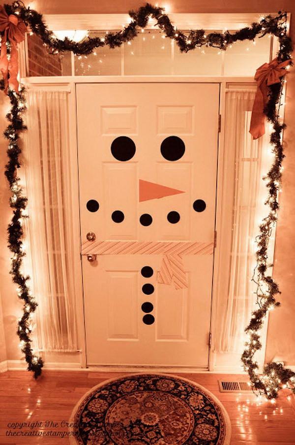 Door ornament Ideas 20 Creative Diy Christmas Door Decoration Ideas