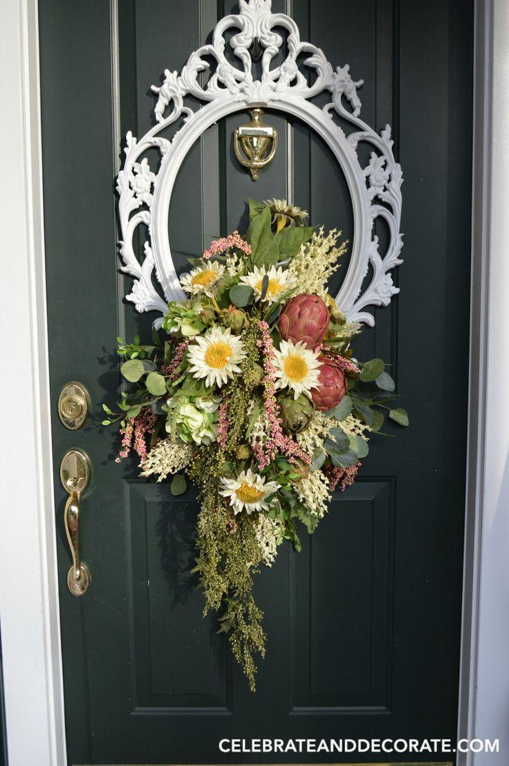 Door ornament Ideas 25 Best Ideas About Frame Wreath On Pinterest