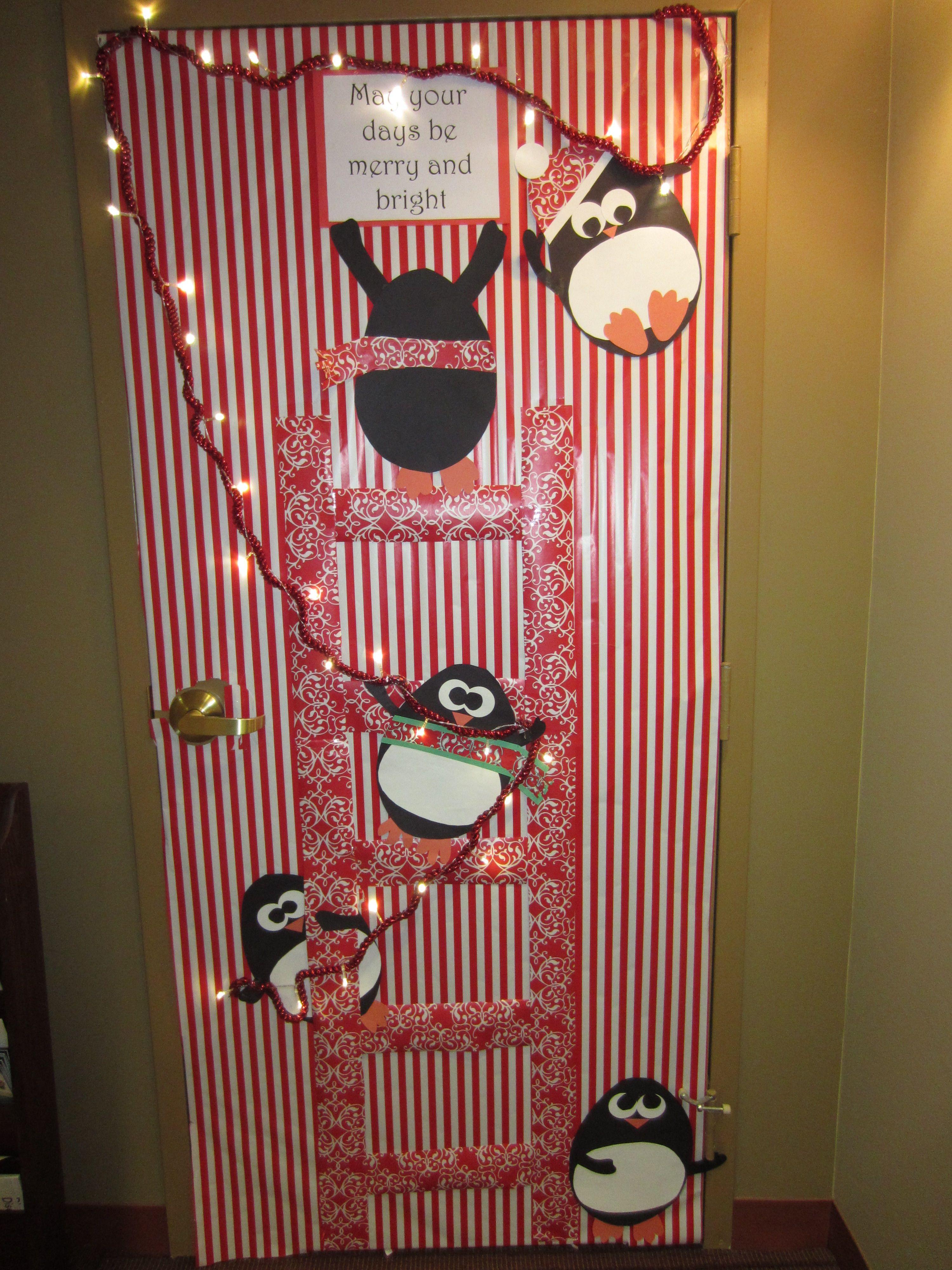 Door ornament Ideas Christmas Holiday Door Decoration