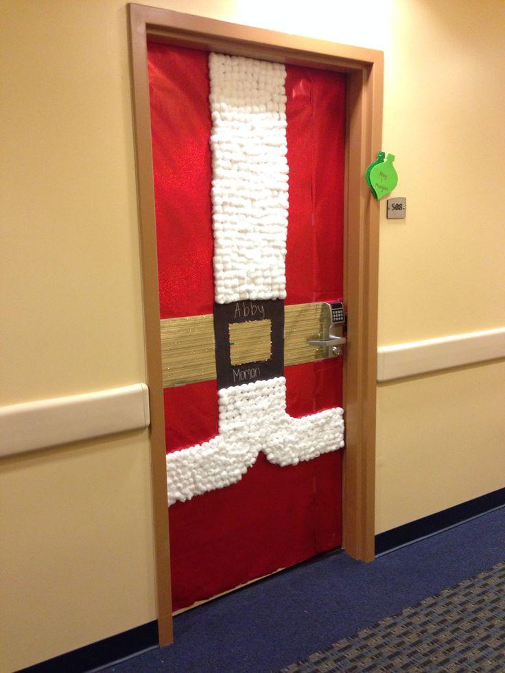 Door ornament Ideas College Door Decorations Santas Suit