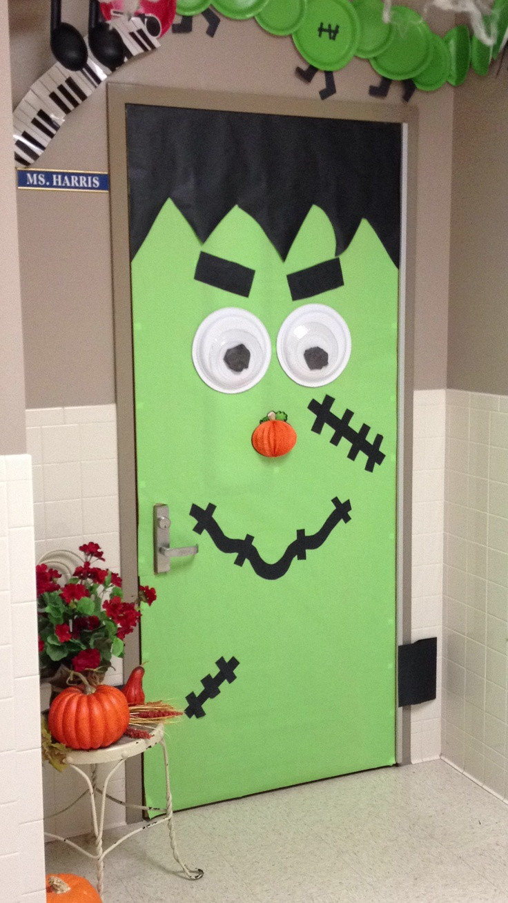 Door ornament Ideas Halloween Inspiration Silly Monster and Ghost Doors and