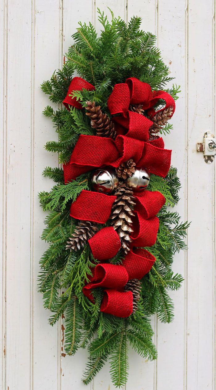 Door ornament Ideas How to Make A Christmas Swag Christmas Ideas