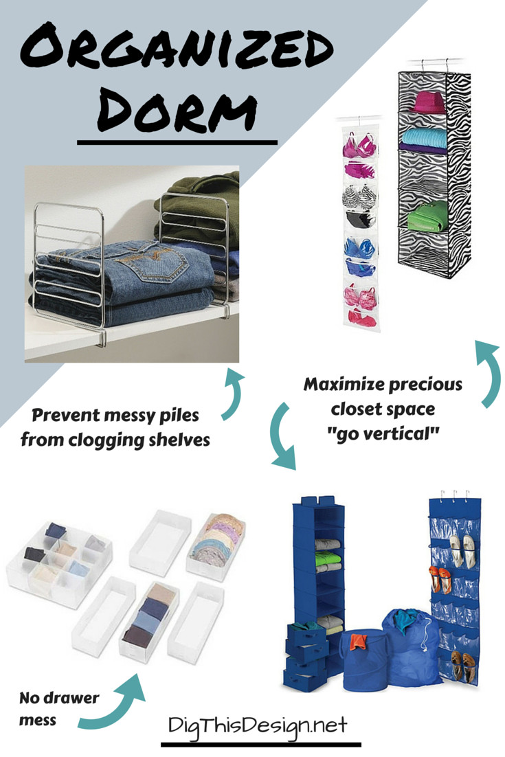 Dorm Room organization 3 Must Do S for Stylish organized Dorm Living