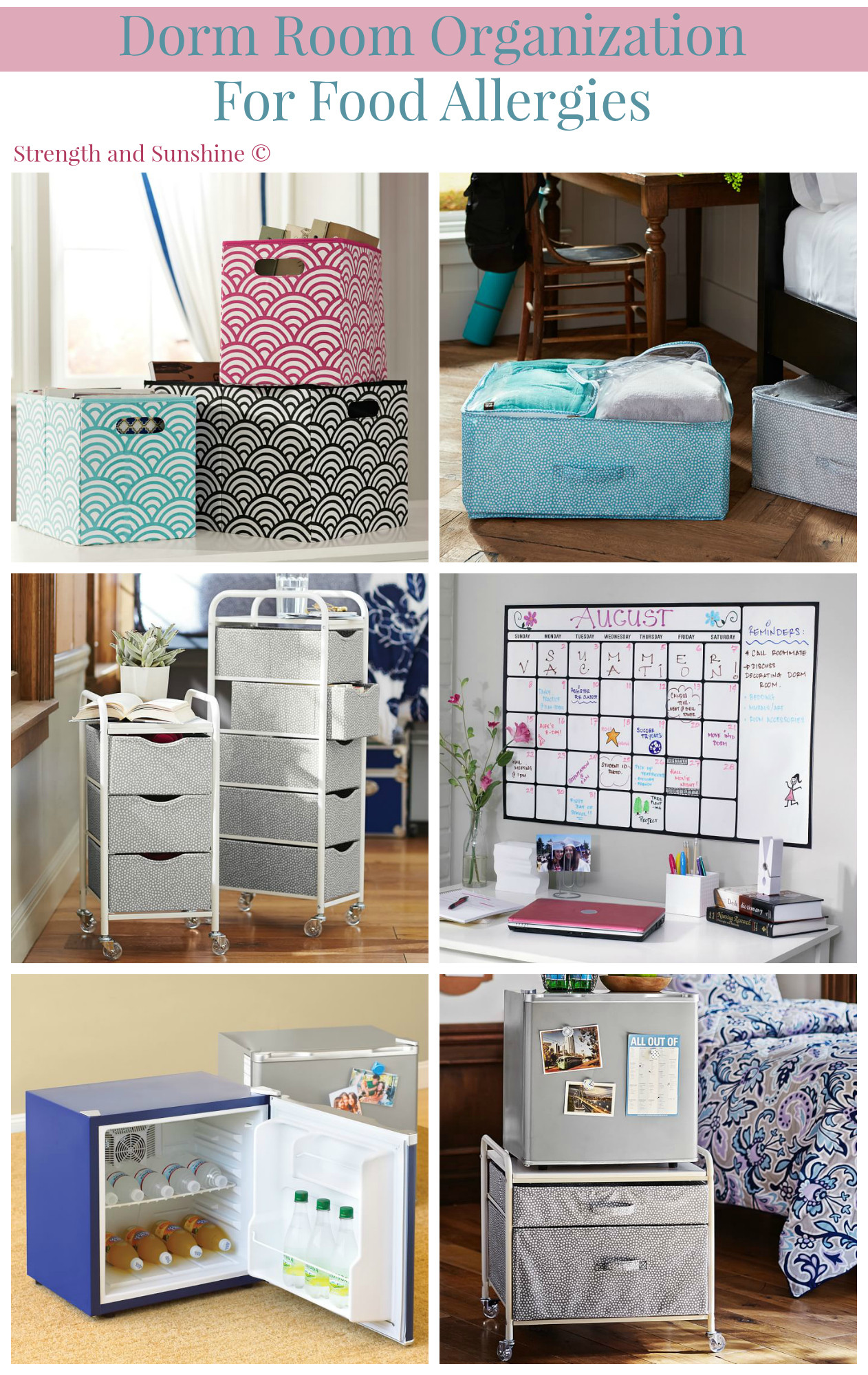 Dorm Room organization Dorm Room organization for Food Allergies Strength and