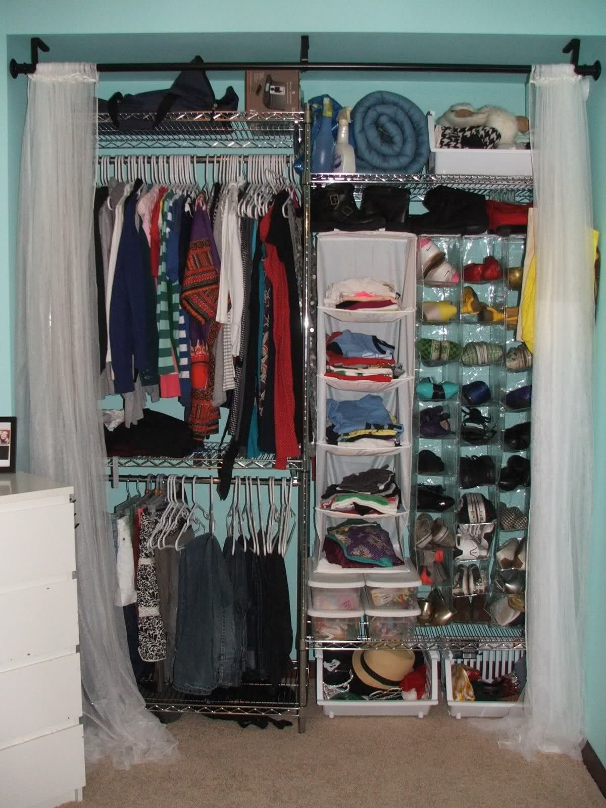 Dorm Room organization Tip since Dorm Closets are Significantly Smaller Than