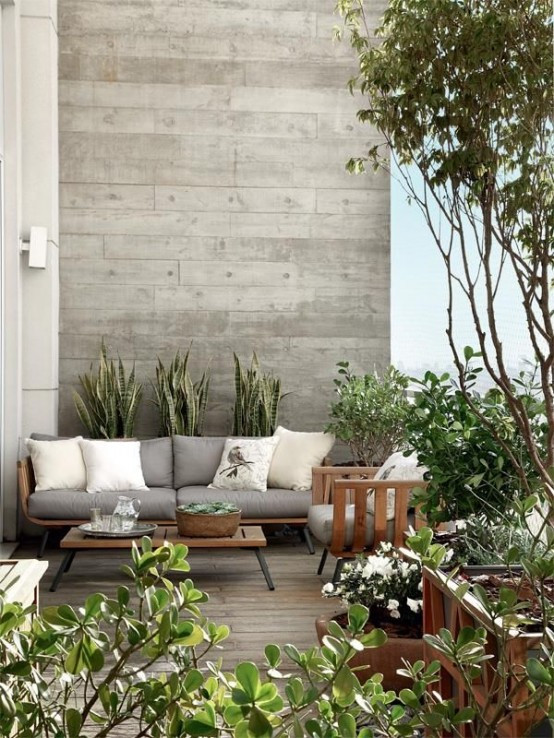 Elegant Backyard Design 24 Elegant Terrace and Patio Designs In Neutral Shades
