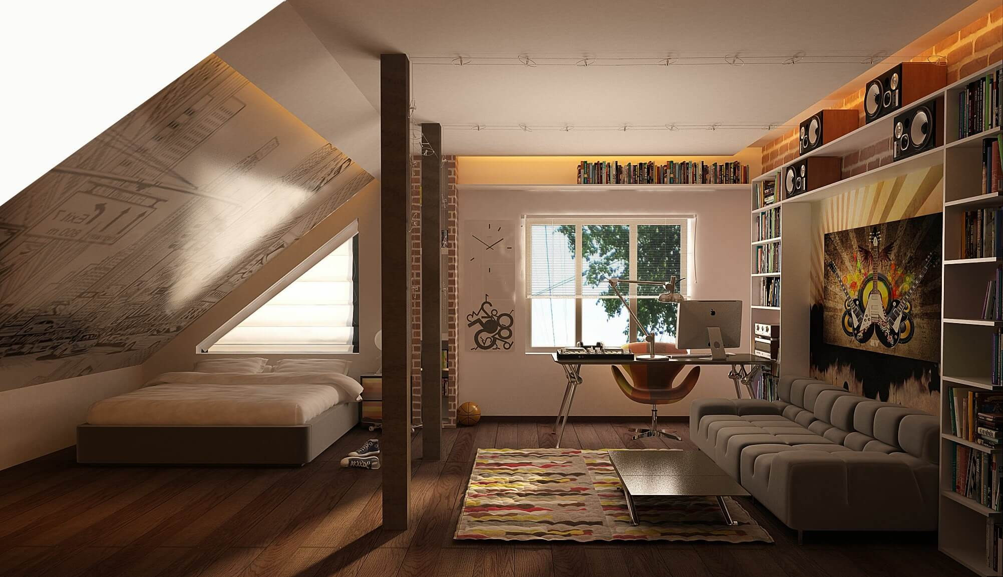 Elegant Modern attic Ideas 19 attic Fice Ideas for 2018